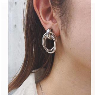 アズールバイマウジー(AZUL by moussy)のmetal clip pirce-silver-(ピアス)