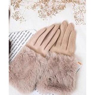 シマムラ(しまむら)のしまむら プチプラのあやさんプロデュース ファー付き手袋(手袋)