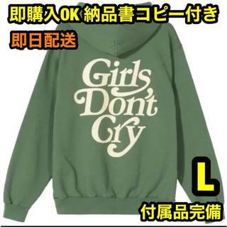 シュプリーム(Supreme)の即購入OK 緑 L ガールズドントクライ ロゴ フーディー パーカー(パーカー)