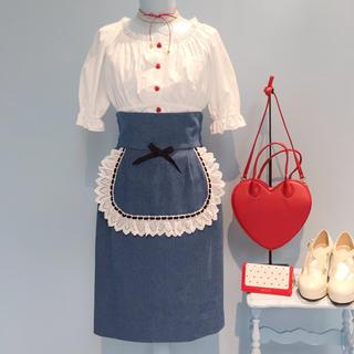ミルク(MILK)のMILK スザンナスカート  ブルーデニム(ひざ丈スカート)