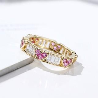ハート ピンク ジルコン リング 指輪 14号(リング(指輪))