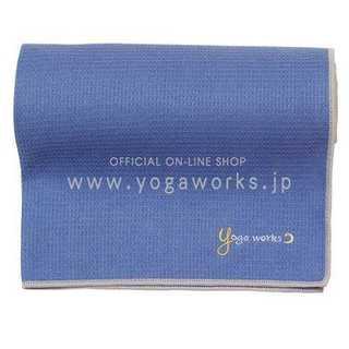 パープルヨガワークス(Yogaworks) ワッフルヨガラグ グレイパープル Y(ヨガ)