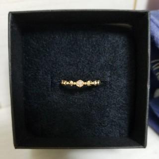 アガット(agete)のJupiter ジュピター ダイヤモンドリング イエローゴールド 7号(リング(指輪))