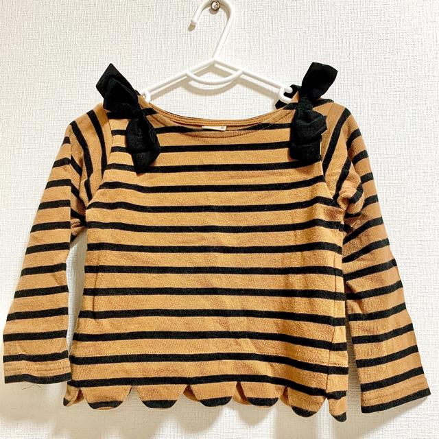 petit main(プティマイン)のこれたん様専用⭐︎プティマイン 長袖カットソー 100 キッズ/ベビー/マタニティのキッズ服女の子用(90cm~)(Tシャツ/カットソー)の商品写真
