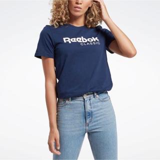 Reebok - 新品 Reebok レディース  Tシャツ ネイビー M スポーティ トップス