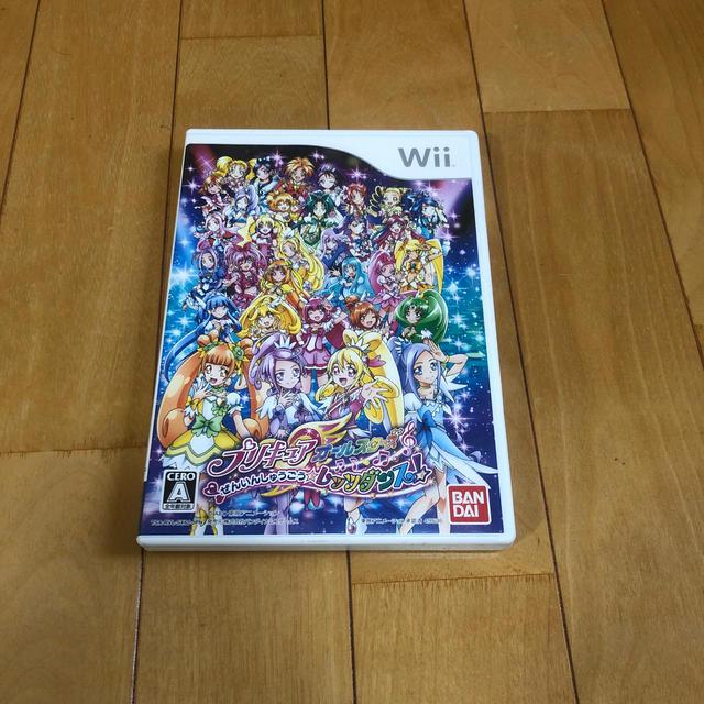 Wii(ウィー)のプリキュアオールスターズ ぜんいんしゅうごう☆レッツダンス! Wii エンタメ/ホビーのゲームソフト/ゲーム機本体(家庭用ゲームソフト)の商品写真