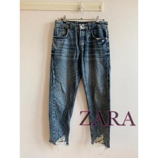 ZARA - ZARA テーパードクラッシュデニムパンツ メンズジーンズ
