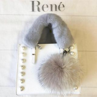 ルネ(René)のRene ルネ ミンクカメリアハンドルカバー2枚 ライトグレー ファー(その他)