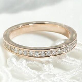 ダイヤのK10ピンクゴールド指輪(リング(指輪))