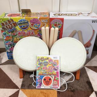 ウィー(Wii)のwii用太鼓の達人 タタコン2台+ソフトセット(家庭用ゲームソフト)