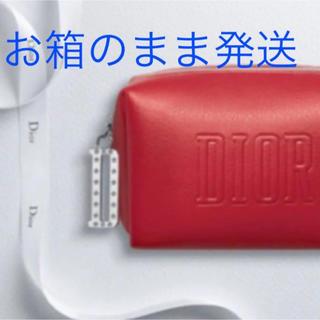 ディオール(Dior)のディオールポーチディオールノベルティポーチ限定オファー赤スクエアポーチ新品未使用(ポーチ)