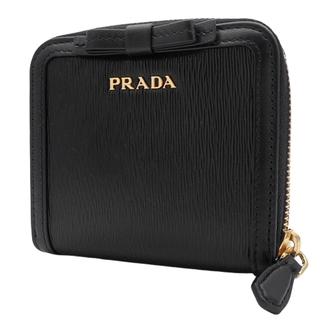 PRADA - プラダコンパクト財布 リボン コンパクト両面財布 NERO ブラック黒