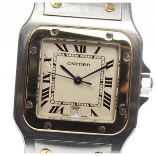 カルティエ(Cartier)のカルティエ サントスガルベLM デイト  クォーツ メンズ 【中古】(腕時計(アナログ))