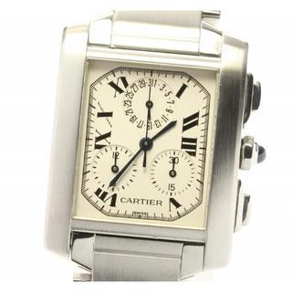 カルティエ(Cartier)の☆良品 カルティエ タンクフランセーズ クロノリフレックスLM メンズ 【中古】(腕時計(アナログ))