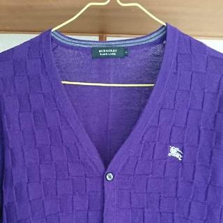 バーバリーブラックレーベル(BURBERRY BLACK LABEL)のバーバリー カーディガン 羊毛100%(カーディガン)