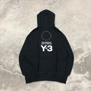Y-3 - Y-3 Stacked logo hoodie パーカー 黒 XS