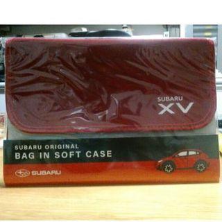 スバル(スバル)のスバル オリジナル バッグインソフトケース (赤)(ノベルティグッズ)