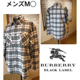バーバリーブラックレーベル(BURBERRY BLACK LABEL)の超美品本物バーバリーブラックレーベル上質コットンチェック柄長袖シャツ♫(Tシャツ/カットソー(七分/長袖))