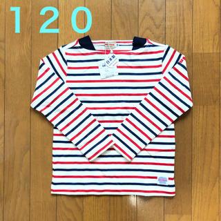 ミキハウス(mikihouse)の【新品】ミキハウス ボーダー 長袖Tシャツ 120(Tシャツ/カットソー)