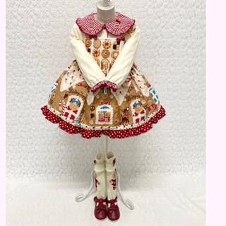 Shirley Temple - お菓子のおうちプリント ブラウス&JSK&ハイソックス