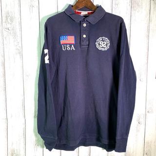 アバクロンビーアンドフィッチ(Abercrombie&Fitch)のAbercrombie & Fitch (XL) アバクロ ポロシャツ 長袖(ポロシャツ)