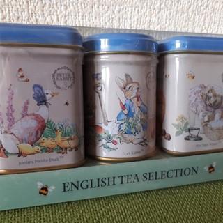 値下げ ピーターラビット 紅茶ギフト ミニチュア缶 3Pパック(茶)
