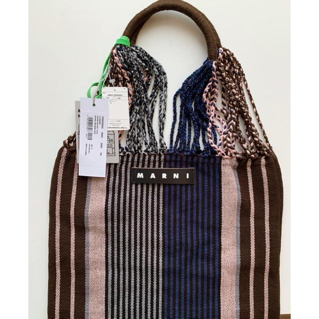 Marni(マルニ)のマルニフラワーカフェ ハンモック バッグ ブルー レディースのバッグ(トートバッグ)の商品写真