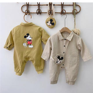 Disney - ミッキーロンパース 韓国服