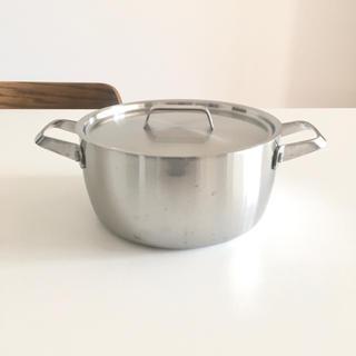 ムジルシリョウヒン(MUJI (無印良品))の無印良品 ステンレス アルミ全面三層鋼・両手鍋・フタ付・20cm 約3.0L(鍋/フライパン)