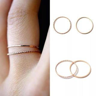 2連リング 指輪 細め(リング(指輪))