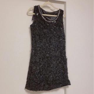 セシルマクビー(CECIL McBEE)のCECIL Mcbee パール フラワー ドレス ミニワンピース(ミニドレス)