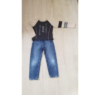 UNIQLO - デニムと長袖Tシャツ2点セット 110cm