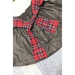 レザースカート  大きいサイズ(ミニスカート)