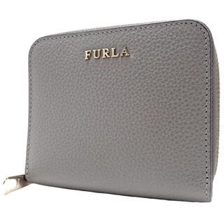 フルラ(Furla)のフルラコンパクト財布 バビロン ラウンドジップコンパクトウォレット 牛革 グレー(財布)