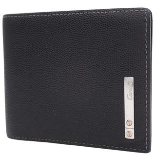 カルティエ(Cartier)のカルティエコンパクト財布 2つ折り財布 カウハイド 黒 40800042019(折り財布)