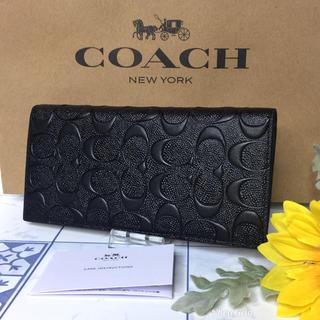 コーチ(COACH)のコーチ 長財布 二つ折り エンボス 【新品】(長財布)