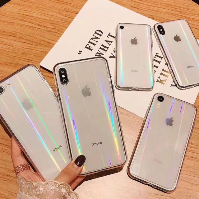 スマホケース クリアケース オーロラでキレイ✳︎ iPhone11 ハンドメイドのスマホケース/アクセサリー(スマホケース)の商品写真