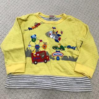 ミキハウス(mikihouse)のミキハウス 黄色トレーナー 90(Tシャツ/カットソー)