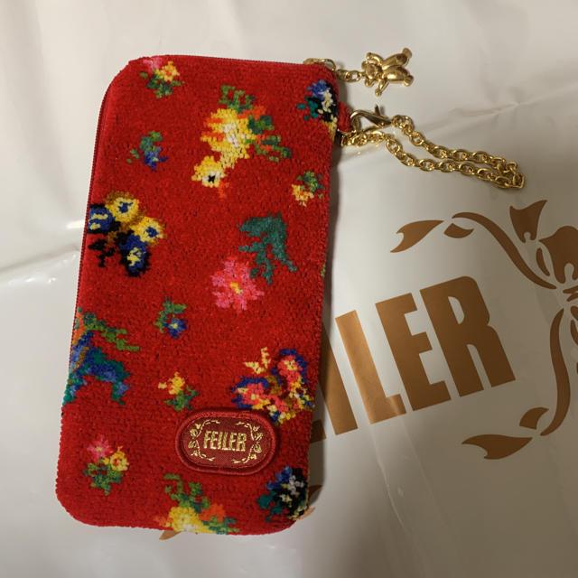 FEILER(フェイラー)のフェイラー 赤ハイジ 3点セット  レディースのファッション小物(ポーチ)の商品写真