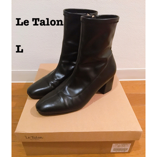 Le Talon - letalon ルタロン スクエアフィットブーツ ショートブーツ ブラック L