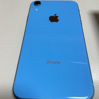 アイフォーン(iPhone)のiPhone XR 128GB ブルー SIMロック解除済み 美品(携帯電話本体)