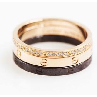 スリーフープ セラミック レディース14号(リング(指輪))