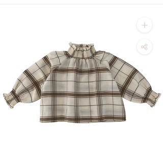liilu smocked blouse chenille check 4y