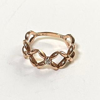 スタージュエリー(STAR JEWELRY)のスタージュエリー K10 ダイヤモンド ピンキーリング 1号(リング(指輪))