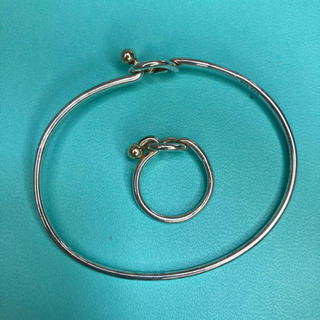 Tiffany & Co. - 正規品ティファニーバングルとリングシルバーK18  2点