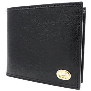Gucci - グッチコンパクト財布 コインウォレット ソフトレザー ブラック黒