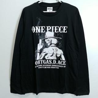 新品 Lサイズ 長袖Tシャツ ワンピース ポートガスDエース 黒1300B(Tシャツ/カットソー(七分/長袖))