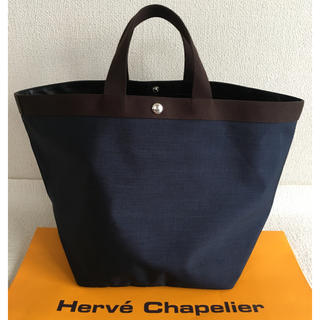 Herve Chapelier - 超美品 エルベシャプリエ  725コーデュラ ネイビー モカ