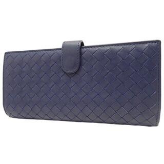 Bottega Veneta - ボッテガヴェネタ長財布 2つ折り長財布 ネイビー紺 40800045678