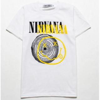半袖 Tシャツ ニルヴァーナ  ニコサークル L 白 メンズ レディース(Tシャツ/カットソー(半袖/袖なし))